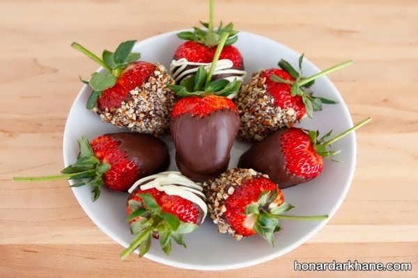 مدل های جذاب و خاص تزیین توت فرنگی