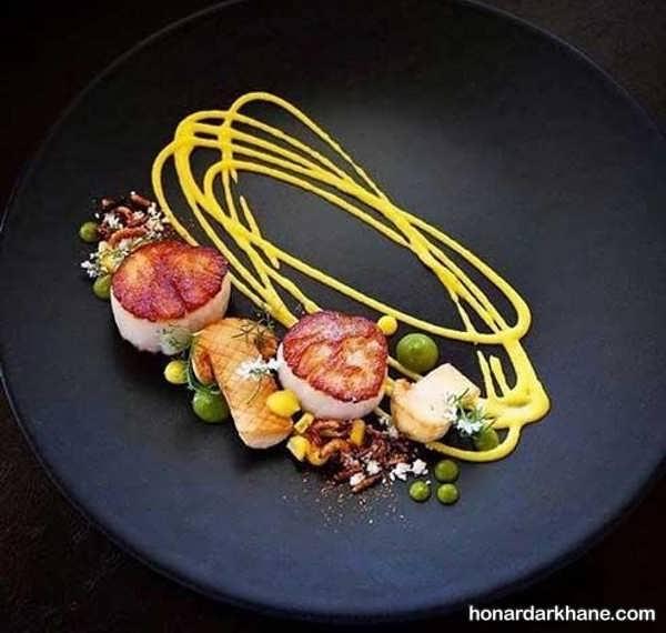 ایده های زیبا و خلاقانه تزییین غذا با سس