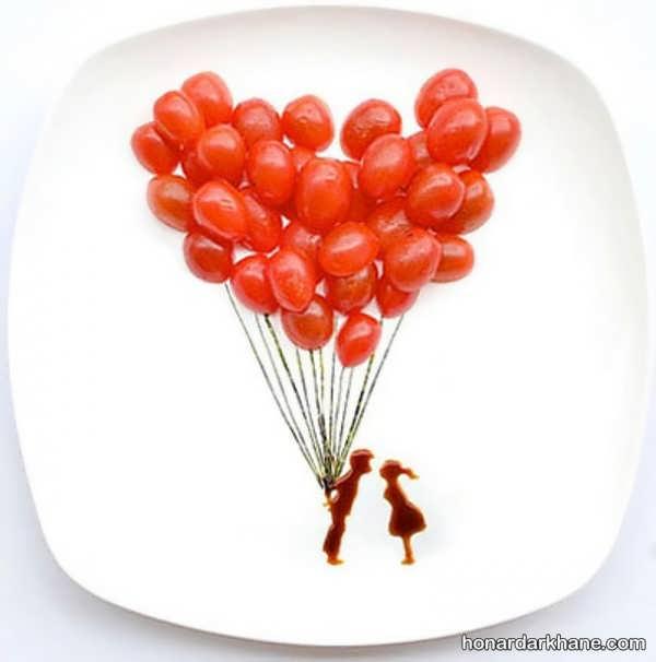 ایده های جذاب تزیین غذا با سس