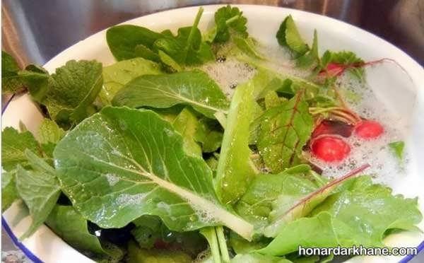 شیوه های مختلف عفونت زدایی سبزیجات