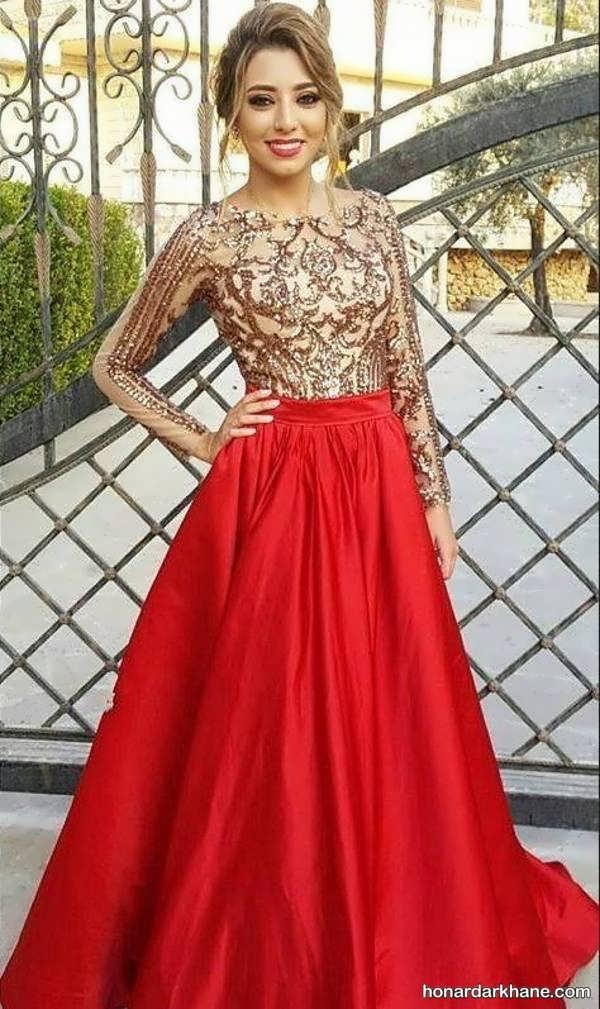 مدل های زیبا و بلند پیراهن مجلسی زنانه