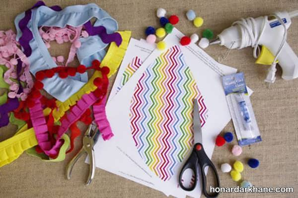 روش درست کردن کلاه تولد کاغذی و مقوایی