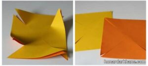 آموزش ساخت فرفره کاغذی دو رنگ
