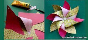 شیوه ساختن فرفره کاغذی زیبا و ساده