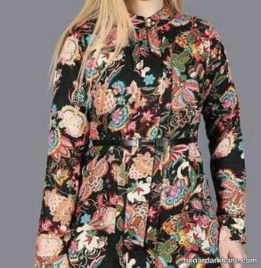 مدل های جالب مانتو گلدار زنانه