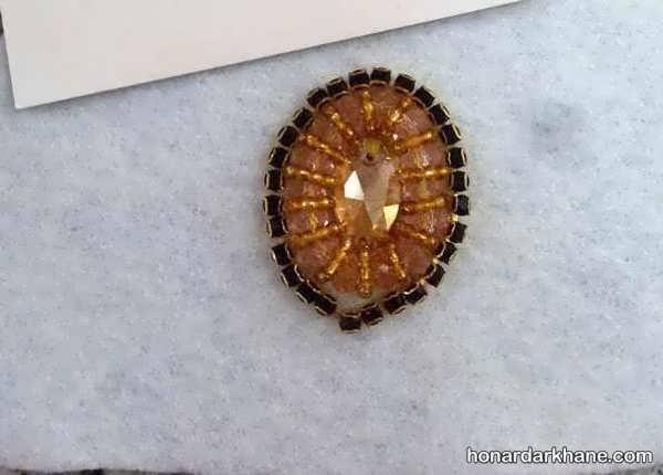 سنگ دوزی روی مانتو به روشی ساده