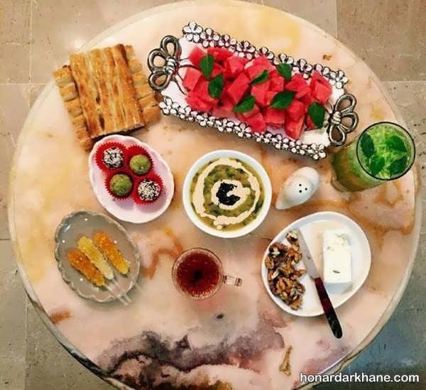 انواع میز افطار مجلسی و زیبا