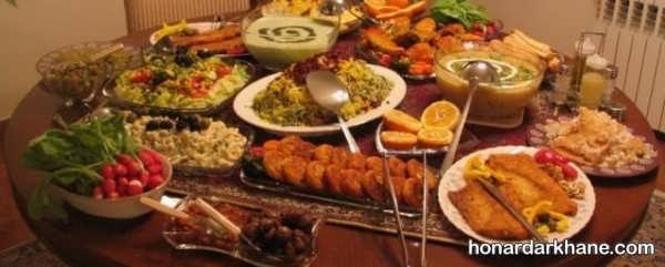 انواع چیدمان جدید میز افطار مجلسی