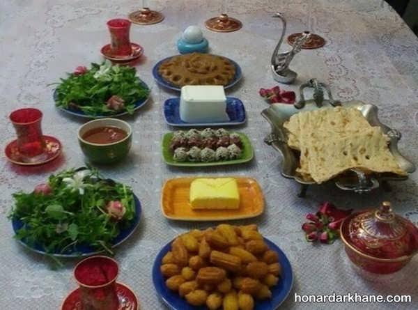 انواع تزیین خاص و مجلسی میز افطار