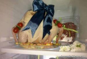 انواع دیزاین جدید و خاص مرغ و ماهی یخچال عروس