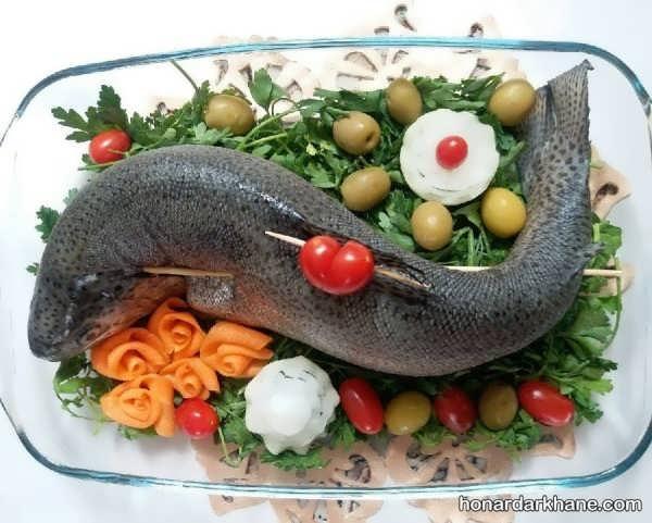 انواع تزیین جدید و زیبا مرغ و ماهی یخچال عروس