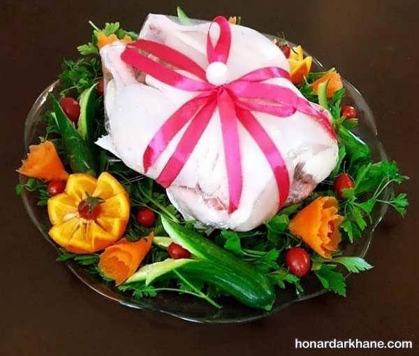 انواع دیزاین شیک مرغ و ماهی یخچال عروس