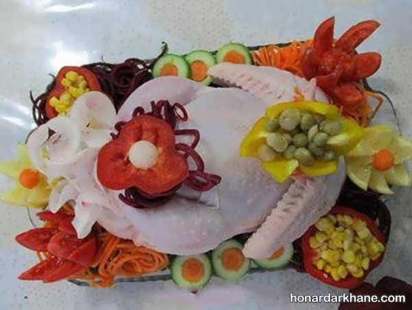 انواع تزیین زیبا و جذاب مرغ و ماهی یخچال عروس