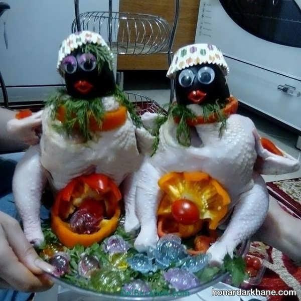 مدل های زیبا و جذاب دیزاین مرغ و ماهی یخچال عروس