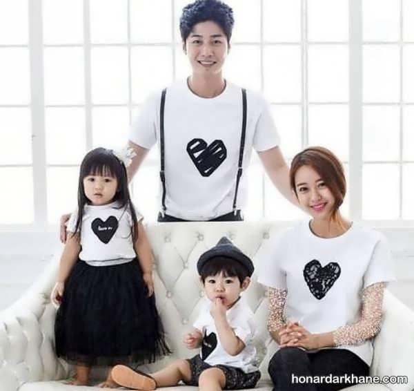 انواع ست لباس خانواده با طرح های شیک