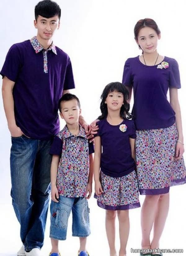 مدل های جالب و جدید ست لباس خانواده