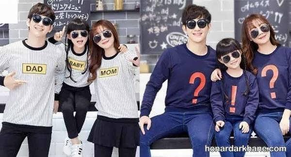 مدل های جالب و زیبا ست لباس خانواده