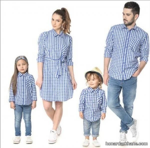 انواع ست لباس خانواده در طرح های شیک و خاص