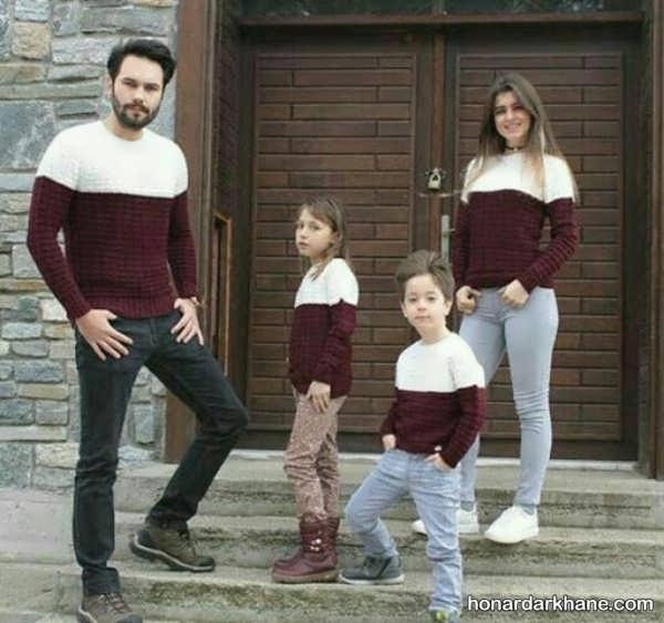 انواع ست لباس زمستانی خانواده
