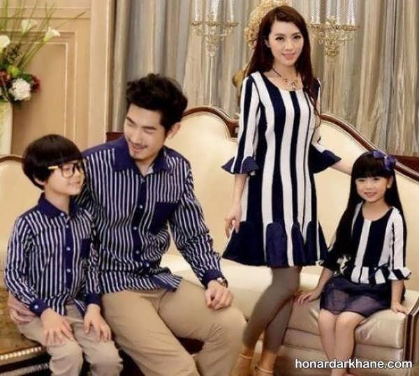 مدل های شیک لباس یکدست خانوادگی