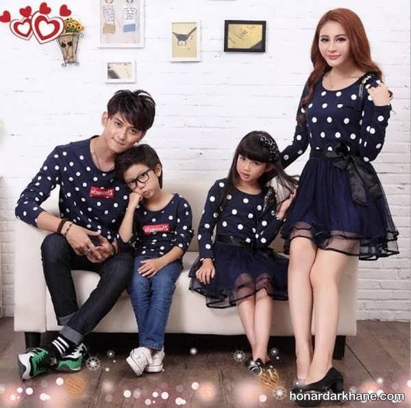 مدل های زیبا و جذاب لباس یکدست خانوادگی