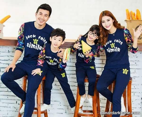 مدل های اسپرت لباس یکدست خانوادگی
