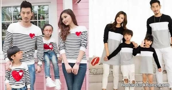انواع لباس یکدست خانوادگی