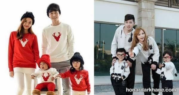 مدل های زیبا و خاص لباس یکدست خانواده