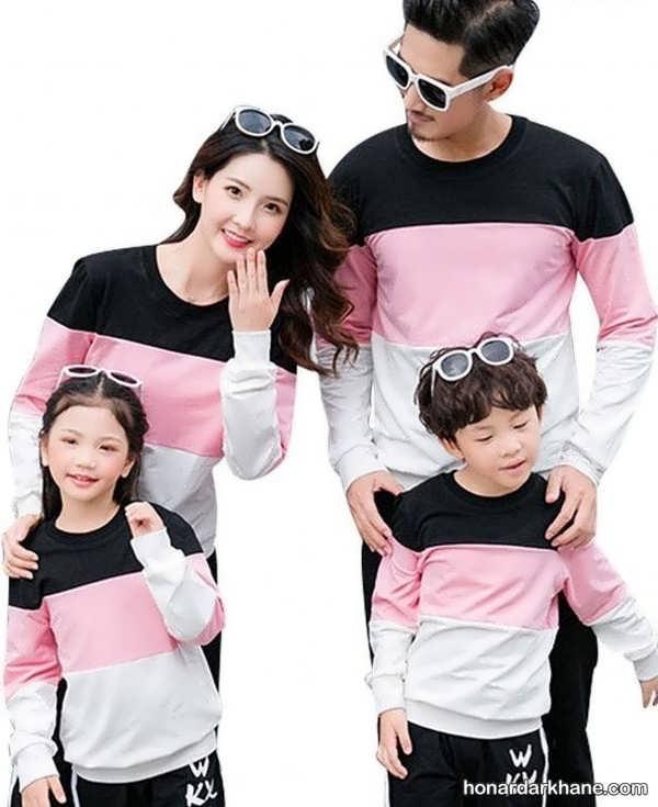 انواع لباس مجلسی یکدست خانوادگی