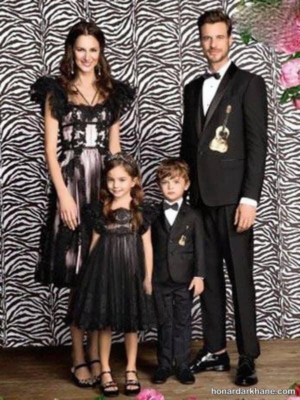 انواع ست لباس جالب خانواده