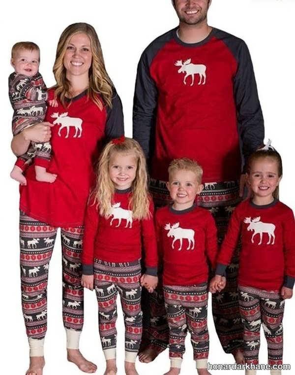 مدل های شیک و جدید لباس یکدست خانوادگی