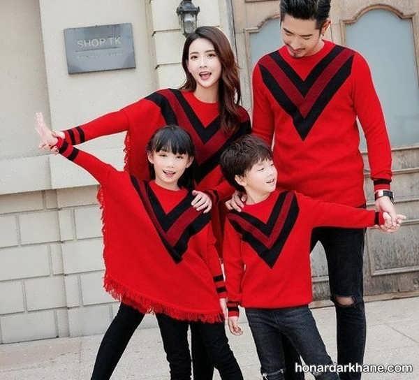 انواع ست لباس خانوادگی در طرح های شیک
