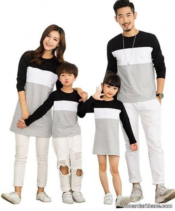 انواع لباس یکدست خانوادگی در طرح های زیبا
