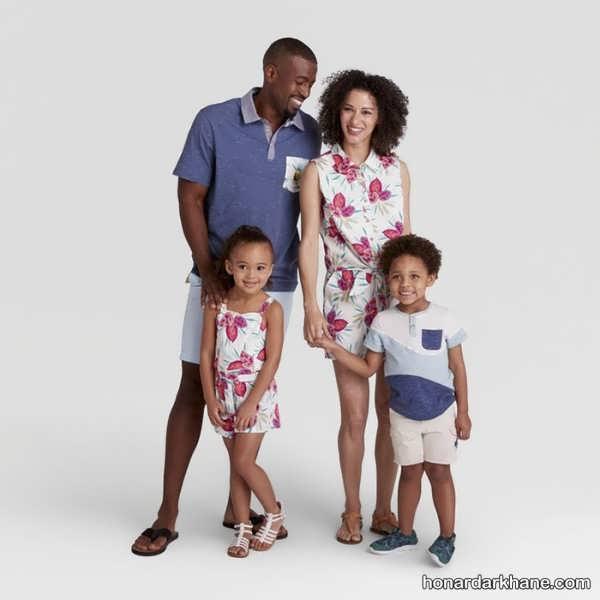 انواع ست لباس خانواده با طرح های جذاب