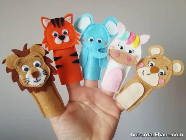 انواع عروسک انگشتی زیبا به شکل حیوانات