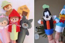 انواع مدل های مختلف عروسک انگشتی نمدی