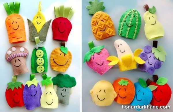 انواع عروسک انگشتی جالب و زیبا به شکل میوه ها