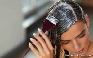 طریقه رنگ زدن مو در منزل