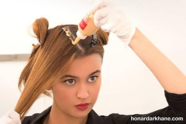 نحوه رنگ کردن مو همراه با اصول آن