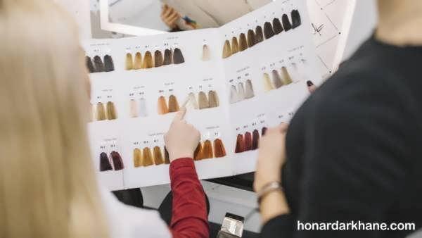 شیوه رنگ نمودن مو همراه با نکات آن  رنگ کردن مو در خانه و آموزش ترفندهای مهم برای ترکیب رنگ مو  شماره بندی اکسیدان ها  رنگ نمودن موهای سفید