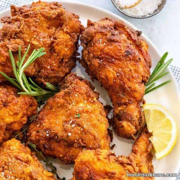 نحوه پخت مرغ سوخاری خوشمزه و عالی