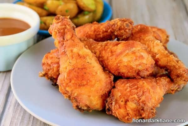 طرز تهیه مرغ سوخاری به روشی ساده