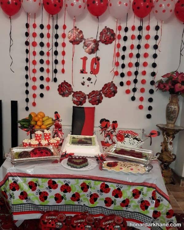 انواع دیزاین زیبا جشن تولد با تم لیدی باگ