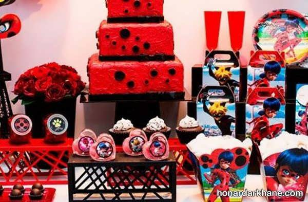 انواع دیزاین مراسم تولد با تم لیدی باگ