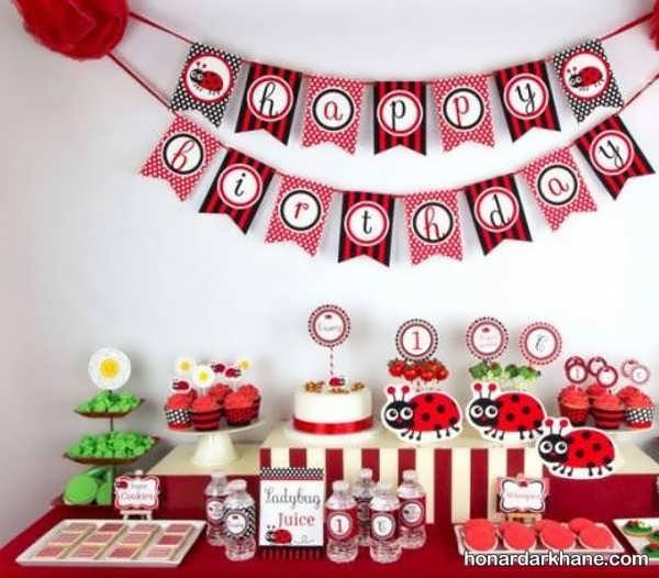 انواع دیزاین خلاقانه جشن تولد با تم لیدی باگ