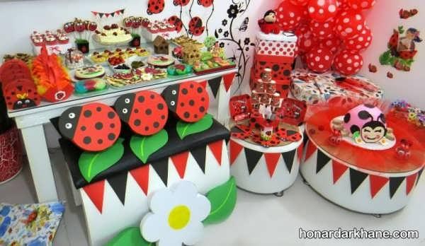 انواع دیزاین جذاب تولد با تم لیدی باگ