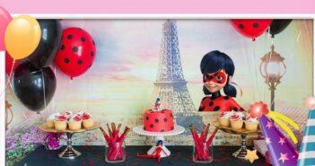 انواع برگزاری جشن تولد با تم تولد دختر کفشدوزکی