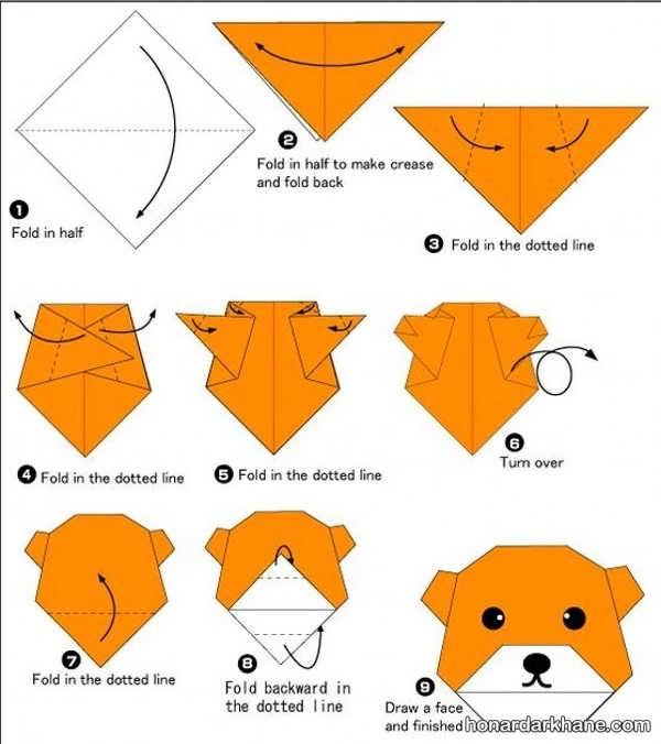 طریقه ساختن اوریگامی زیبا و جالب