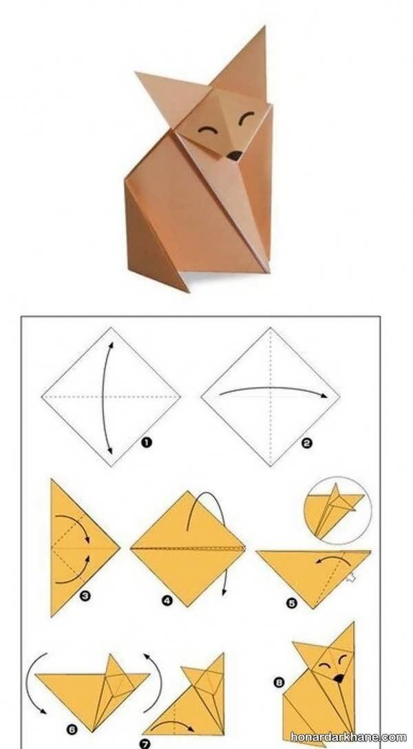 نحوه درست کردن اوریگامی ساده