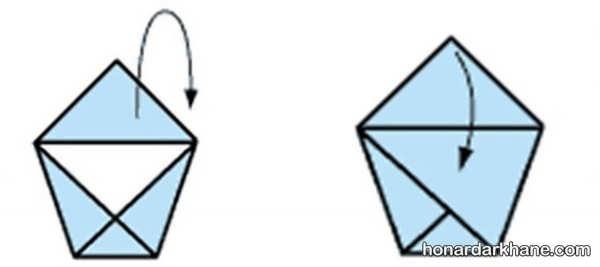شیوه ساختن اوریگامی ساده و جالب
